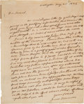 Autographs:U.S. Presidents, James Monroe Autographed Letter Signed as President....