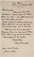 Autographs:U.S. Presidents, Benjamin Harrison Autograph Letter Signed as President.... (Total: 2 )