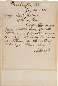 Abraham Lincoln Autograph Letter Signed as President