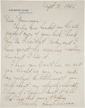 Autographs:U.S. Presidents, Harry S. Truman: Autograph Letter Signed as President. ... (Total:2 Items)