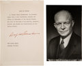 Autographs:U.S. Presidents, Dwight D. Eisenhower Signed Typed Oath of Office....