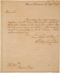 Autographs:U.S. Presidents, George Washington Autograph Letter Signed as President....
