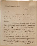 Autographs:U.S. Presidents, John Quincy Adams Autograph Letter Signed as President. ...