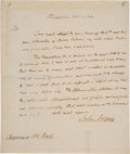 Autographs:U.S. Presidents, John Adams Autographed Letter Signed as President....