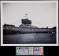 Baseball Collectibles:Tickets, 1947 Major League Baseball All Star Game Promo Photograph and ProofTicket. ...