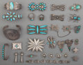 American Indian Art:Jewelry and Silverwork, Twenty-Seven Navajo Silver Jewelry Items. c. 1940 - 1960... (Total:27 Items)