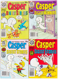 Casper and Richie Rich Related Digest Comics File Copy Long Box Group (Harvey, 1970s-80s) Condition: Average NM-