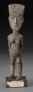 Tribal Art, AKAN, Ghana, Ivory Coast. Standing Female Figure...