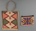 American Indian Art:Baskets, Two Plateau Twined Cornhusk Bags . ... (Total: 2 Items)