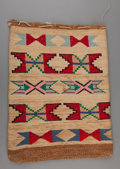 American Indian Art:Baskets, A Plateau Twined Cornhusk Bag. c. 1900...