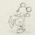 Animation Art:Production Drawing, On Ice Mickey Mouse Production Drawing (Walt Disney, 1935)....