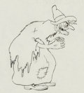 Animation Art:Production Drawing, Babes in the Woods Witch Production Drawing (Walt Disney,1932). ...