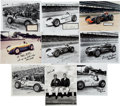 Miscellaneous Collectibles:General, 1950's-60's Indy Drivers Signed Autographs Lot of 10....