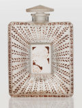 Art Glass:Lalique, An R. Lalique Clear and Frosted Glass La Belle SaisonPerfume Bottle with Sepia Patina for Houbigant, circa 1925...
