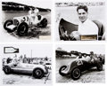 Miscellaneous Collectibles:General, 1930's-40's Indy Drivers Signed Autographs Lot of 4....