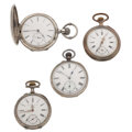Timepieces:Pocket (pre 1900) , Three Swiss & One French Pocket Watches Runners. ... (Total: 4Items)