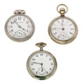 Timepieces:Pocket (post 1900), Three Open Face 18 Size Pocket Watches. ... (Total: 3 Items)