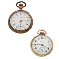 Timepieces:Pocket (post 1900), Hamilton & Waltham Open Face Pocket Watches. ... (Total: 2Items)