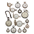Timepieces:Pocket (pre 1900) , Fifteen Silver Pocket Watches. ... (Total: 15 Items)