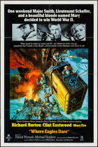 "Where Eagles Dare (MGM, 1968). One Sheet (27"" X 41""). War"