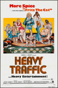 "Movie Posters:Animation, Heavy Traffic & Other Lot (American International, 1973). One Sheets (2) (27"" X 41"") & Ad Slicks with Folders (2) Identical ... (Total: 4 Items)"