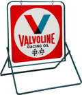 Miscellaneous Collectibles:General, 1971 Valvoline Racing Oil Double-Sided Stand-Up Sign....