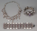 American Indian Art:Jewelry and Silverwork, Three Mexican Silver Jewelry Items... (Total: 3 Items)