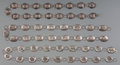 American Indian Art:Jewelry and Silverwork, Three Navajo Silver Link Belts... (Total: 3 Items)