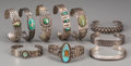 American Indian Art:Jewelry and Silverwork, Ten Southwest Silver Bracelets... (Total: 10 Items)