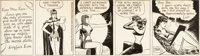 Milton Caniff Male Call Daily Comic Strip Miss Lace Original Art (Camp Newspaper Service, 1943)