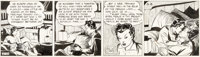 Milton Caniff Terry and the Pirates Daily Comic Strip Dragon Lady Original Art dated 10-24-36 (Chicago Tribune, 19