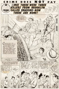 Original Comic Art:Splash Pages, George Tuska Crime Does Not Pay #67 Splash Page 1 OriginalArt (Lev Gleason, 1948)....