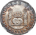 Mexico, Mexico: Philip V 4 Reales 1733 Mo-MF VF Details (Surface Hairlines)NGC,...