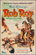 "Movie Posters:Adventure, Rob Roy, the Highland Rogue (RKO, 1954). One Sheet (27"" X 41"").Adventure.. ..."