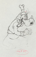 Animation Art:Production Drawing, Goofy Production Drawing (Walt Disney, c. 1936)....