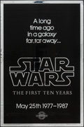 """Movie Posters:Science Fiction, Star Wars (Kilian Enterprises, R-1987). 10th Anniversary SilverMylar One Sheet (27"""" X 41"""") Style A. Science Fiction.. ..."""