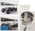 Miscellaneous Collectibles:General, 1930's Indy Drivers Signed Autographs Lot of 3....