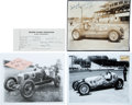 Miscellaneous Collectibles:General, 1920's-40's Indy Drivers Signed Autographs Lot of 4....