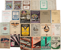 1912-2016 Indianapolis 500 Official Programs Lot of 99