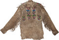 American Indian Art:Beadwork and Quillwork, A Chippewa Beaded Hide Jacket. c. 1890...