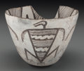 American Indian Art:Pottery, A Mimbres Pictorial Black-On-White Bowl. c. 950 - 1150 AD...