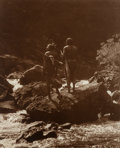 American Indian Art:Photographs, Roland W. Reed (American, 1864 - 1934). Into the Unknown:Blackfeet Indian Hunters, Glacier National Park, Montana...