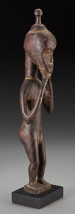 Tribal Art, BAULE, Ivory Coast. Standing Male Figure...