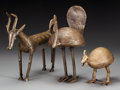 Tribal Art, WEST AFRICA. Three Bird and Animal Figures... (Total: 3 Items)