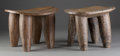 Tribal Art, WEST AFRICA. Two Wood Stools... (Total: 2 Items)