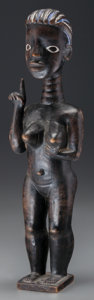 Tribal Art, KULANGO, Ivory Coast. Female Figure...