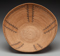 American Indian Art:Baskets, A Panamint Polychrome Coiled Bowl . c. 1900...