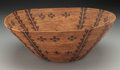 American Indian Art:Baskets, A Yokuts Polychrome Coiled Bowl . c. 1900...
