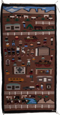 American Indian Art:Weavings, A Contemporary Navajo Pictorial Weaving . c. 1990...