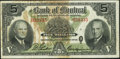 Canadian Currency: , Montreal, PQ- The Bank of Montreal $5 Dec. 7, 1942 Ch. # 505-64-02....